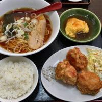 名駅西口から徒歩3分、太閤通り沿い中国料理の栄福で鶏肉の唐揚げセットを食べてみた。